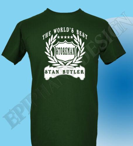 Storeman T-Shirt Personalised Add Name Great Gift Idea Customised Storeman
