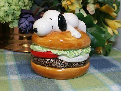 Snoopy Hamburger Bank Ceramic bank with stopper