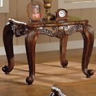 Coaster Traditional End Table in Shell and Leaf design Brown Finish (700467)