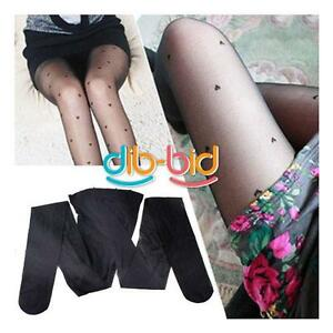 Woman-Slim-Feminine-Fitting-Heart-Style-Pattern-Pantyhose-Stockings