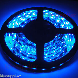 Blue-5M-16-4FT-300LEDs-3528-SMD-Flexible-LED-Lights-Strips-Power-Supply-Adapter