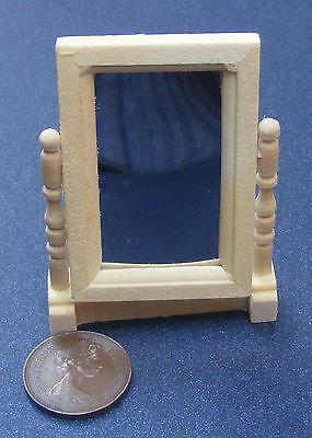 Natural Finish 1:12 Scale Swivel Mirror Dolls House Miniature Accessory 110