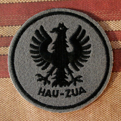 Embroidered HAU ZUA Patch - WWII, German U-Boat Emblem, Sew or Iron On, 3 inch