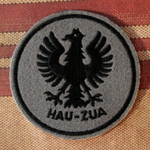 Embroidered HAU ZUA Patch - WWII, German U-Boat Emblem, Sew or Iron On, 3 inch