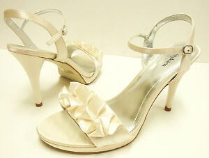 NIB-Stunning-Style-amp-Co-034-Hottie-034-Champagne-Evening-Heeled-Sandals-sz-7-5M-Nice