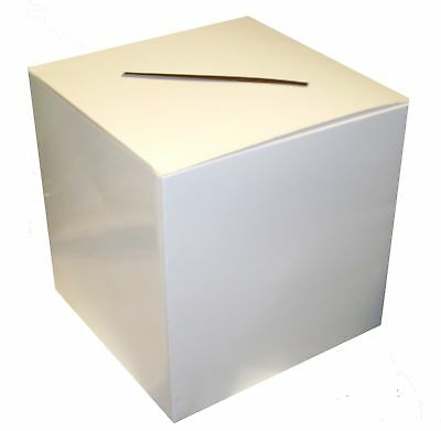 WHITE Wedding Wishing Well POST BOX for Cards
