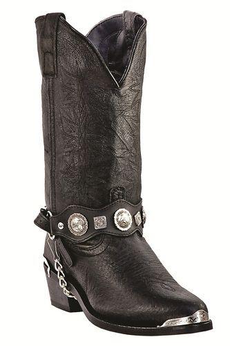 """Dingo Men's """"Suiter""""  Black Pigskin Cowboy Boots DI02175"""