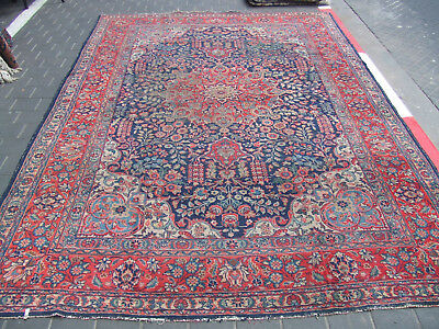 ORIGINAL ANTIQUE TABRIZ PERSIAN RUG CARPET 1900