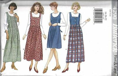 UNCUT Vintage Butterick Pattern Pullover Jumper Top SEWING 4290 OOP FF NEW SEW
