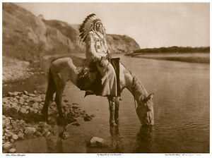 Bow-River-Blackfoot-22x30-Hand-Numbered-Ltd-Edition-Curtis-Indian-Art-Photo