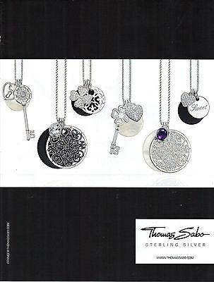 PUBLICITE ADVERTISING  2011   THOMAS SABO  pendentifs bijoux argent