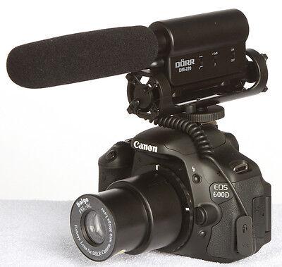 Profi Richtmikrofon für Nikon D3200 D5200 D7000 D600 D800 D SLR  Video Mikrofon