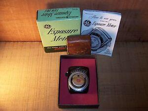 Vintage GE Exposure Meter TYPE PR-1 w/ Box & Case