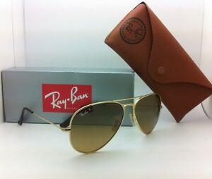 a66940acbd1 Polarized RAY-BAN Aviator Sunglasses RB 8041 001 M2 58-14 GOLD ...