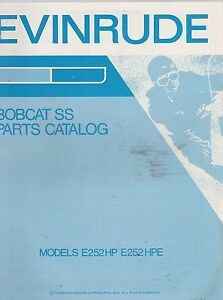 1972-EVINRUDE-SNOWMOBILE-parts-catalog-BOBCAT-NOS