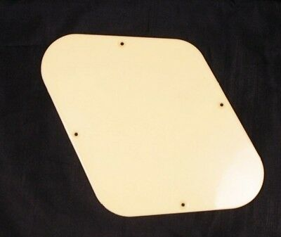 Electric Guitar Cavity Cover Backplate CREAM ABS NEW