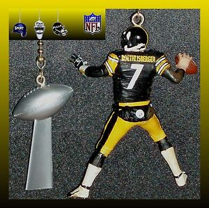 Image Is Loading Nfl Pittsburgh Steelers Ben Roethlisberger Amp Lombardi Trophy