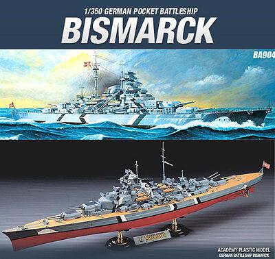 1/350 BISMARCK GERMAN BATTLESHIP ACADEMY MODEL KIT BA904