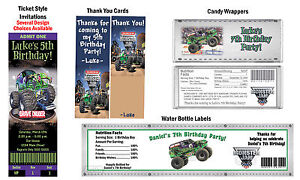 Monster trucks jam grave digger birthday party ticket invitations image is loading monster trucks jam grave digger birthday party ticket filmwisefo Gallery