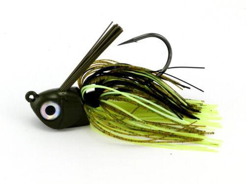 Warbaits swimjig alternent à revêtement Jig Saltwater Calico Bass sélectionnez la taille//couleur