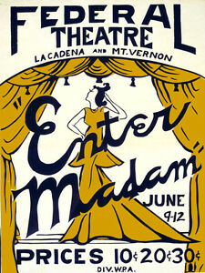 Enter-Madam-Federal-Theater-Poster-Fine-Graphic-Art-Wall-Interior-Design-2139