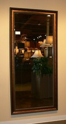 Extra Large Dark Gold Wall Mirror FULL LENGTH Dressing Antique Masculine XL Luxe