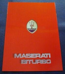 MASERATI-BITURBO-Car-Sales-Brochure-c1984-GERMAN-TEXT
