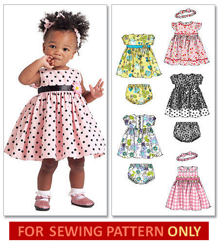 SEWING PATTERN! MAKE SUNDRESS~HEADBAND~PANTIES! BABY SIZES SMALL~ EXTRA LARGE1