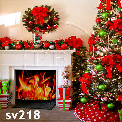 XMAS 8x8 FT CP (COMPUTER PRINTED) PHOTO SCENIC BACKGROUND BACKDROP sv218