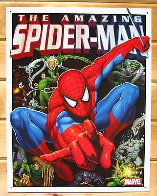 The Amazing Spiderman and Foes TIN SIGN metal poster Marvel Comic Superhero 1260