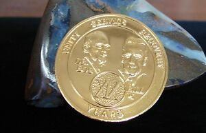 Alcoholics Anonymous Gold Plate 19 Year AA Medallion Coin Chip Token Sobriety