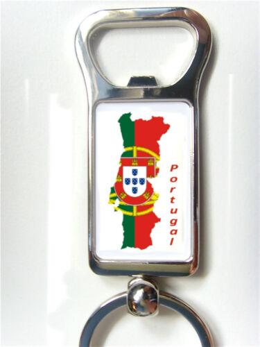 PORTUGAL PORTUGUESE FLAG MAP KEYRING KEYFOB OR BOTTLE OPENER GIFT