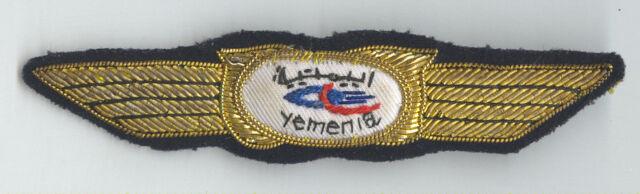 YEMENIA Yemen Airways Old PILOT Wings Patch Badge