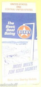 Rare-Derby-Refining-1971-Central-USA-Road-Map-Nice-Graphics-SEE