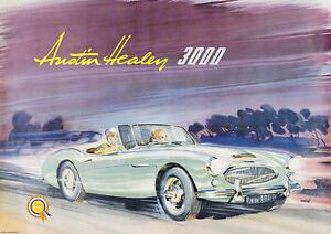 Austin Healey 3000 Vintage Advertsing Picture Print Poster A1 | eBay