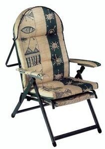 Poltrona sedia sdraio relax regolabile per terrazzo giardino imbottita ebay - Sedia sdraio imbottita ikea ...