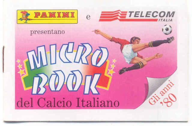 PANINI TELECOM OPUSCOLO CALCIO ITALIANO ANNI '80 + OMAGGIO SCHEDE TELEFONICHE