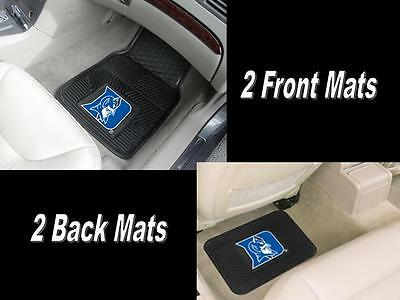 Brand New set of 2 Front & 2 Back Vinyl / Rubber Heavy Duty NCAA Car Floor Mats