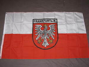 frankfurt am main flag 3x5 feet german germany hesse banner new ebay. Black Bedroom Furniture Sets. Home Design Ideas