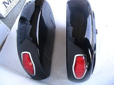 Mutazu LN Universal Motorcycle HARD SADDLE BAG SADDLEBAGS w/ heavy duty brackets