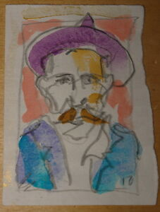 BILLY-CHILDISH-UNCORRECTED-POEMS-SIGNED-LETTERED-1ST-W-PORTRAIT-WATERCOLOUR