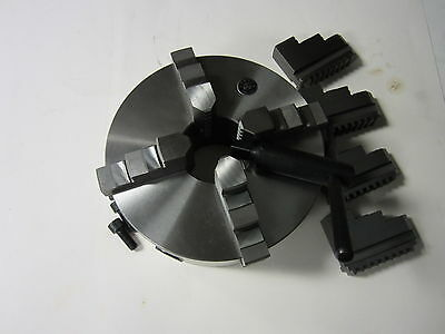 """8"""" 4-JAW SELF-CENTERING  LATHE CHUCK with extra  jaws ---new"""