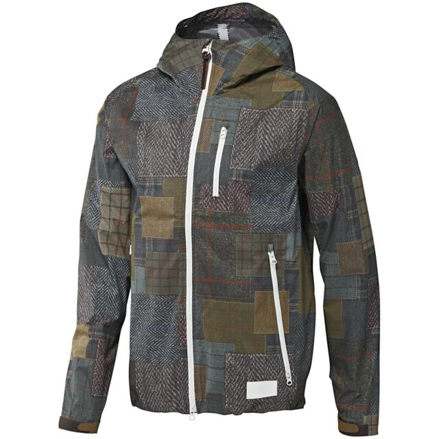 Adidas 2.5 L LAYER RAIN COAT Water Jacket Running Tennis Hoody Track Top~Mens L