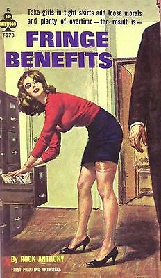 1950's Pulp Magazine Cover Office Fringe Benefits Poster A3 Reprint