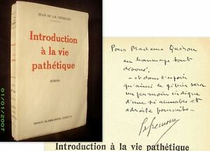 INTRODUCTION-A-LA-VIE-PATHETIQUE-DE-LA-FREMOIRE-1ere-Edition-1928-envoi-signe