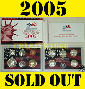 2005-US-MINT-SILVER-PROOF-SET-WITH-50-STATE-STATEHOOD-QUARTERS-11-COINS-BOX-COA