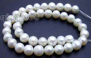 SALE-BIg-10-11mm-high-quality-White-round-pearl-Strand-15-los45