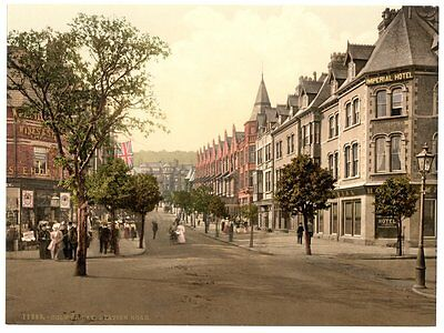 LARGE OLD PHOTOGRAPH/PHOTO OF Colwyn Bay, Station Road, Wales SUPERB