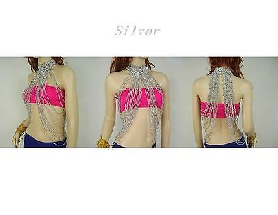 SA02# Belly Dance Costume Long Bead Body Necklace 2 Colors