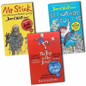 David-Walliams-Collection-3-Books-Set-The-Boy-in-the-Dress-Mr-Stink-New
